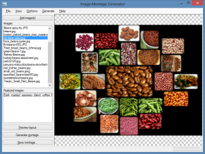 Screenshot of Image Montage Generator